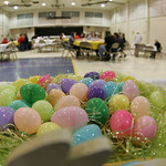 St Mary's held an Easter Dinner after Masses at the Newton Commons on St. Mary Way.    photo by Chuck Humel