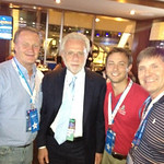Wolf Blitzer, second from left, and Lorain Mayor Chase Ritenauer, second from right.