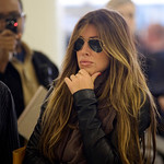 Rachel Uchitel arrives from New York at the Los Angeles International Airport in Los Angeles, Calif., on Sunday, Nov. 29, 2009.  The National Enquirer published a story alleging that golfer  …