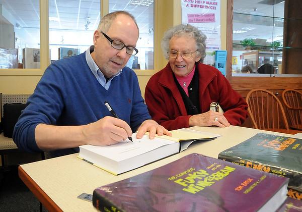 Tom Batiuk at Columbia Library