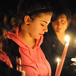 Nicollette Clifford at the vigil for her sister Allie on Feb. 28.  Steve Manheim