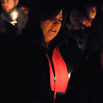Angela Clifford at the vigil for her daughter Alexandra at East Rec. Park on Feb. 28.  Steve Manheim