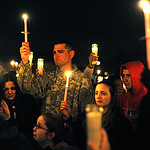 Attendees at a vigil for Alexandra Clifford at East Park on Feb. 28.   Steve Manheim