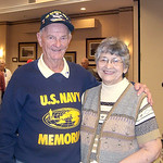 Steve Fogarty— World War II Navy Veteran Julius Pondy and his wife Dorothy at the Wesleyan Village Veterans ceremony.