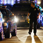 A police secure an area near the Massachusetts Institute of Technology campus Friday, April 19, 2013, in Cambridge, Mass. State police say a campus police officer at the Massachusetts Instit …