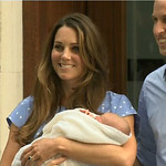 In this image from video, The Duke and Duchess of Cambridge leave the Lindo Wing of St Mary's Hospital in London Tuesday July 23 2013, carrying their new-born son, the Prince of Cambridge wh …