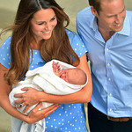 The Duke and the Duchess of Cambridge, leave The Lindo Wing of St. Mary's Hospital, in London, Tuesday, July 23, 2013, carrying their new born son, the Prince of Cambridge, who was born on M …