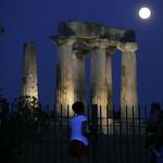APTOPIX Greece Supermoon