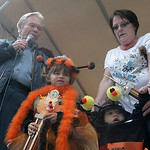 Anna Spanos, 5, of Elyria was named woolly bear queen and Beau Toska, 11 months old of Sheffield Lake was named woolly bear king at the 40th Annual Woolly Bear Festival in Vermilion. Fox Eig …