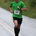 Justin Baum of Maganolia OH place 1st overall in the Columbia Station half marathon run and skate. photo by Ray Riedel