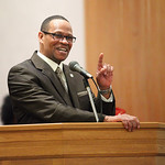 Pastor Loversier Lewis, of Second Baptist Church in Lorain, is the keynote speaker for the  Lorain Branch NAACP Annual Rev. Dr. Martin Luther King Jr. Observance, Sunday evening. Here he sha …