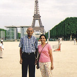 D.C. and Minal Patel in Paris in 2005.