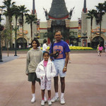 D.C. Patel and his daughters at Epcot Center 1991.