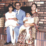 The Patel family, at home, 1984.