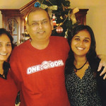 Minal, D.C. and Rakhee Patel, Christmas 2009.