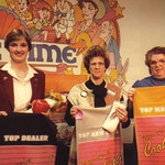 "Eva Mae Pugh, right, was named ""Top Manager"" at a national Tupperware meeting in Orlando, Fla."