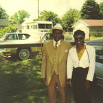 Sylvester Cooper and his daughter Phyllis Taylor of Elyria posed for this picture on Grandfather's Day 1990.
