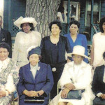 Sylvester Cooper and his eight sisters, pictured in the late 1980s. Front row, from left: Lettuce Currie, Louise Dickson, Sarah Morris, Lossie Mae Watkins. Back row, from left: Sylvester, Be …