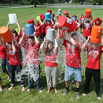 The final piece of the Chronicle's cold water challenge was executed on Friday when the Elyria City Schools administration team did their challenge at the board office. BRUCE BISHOP/CHRONICL …