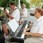 ANNA NORRIS/CHRONICLE The Vermilion Community Music Association Windjammer Big Band performs jazz and dance music Sunday evening at Victory Park in Vermilion as the final concert in the park …