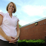 Jessica Barwacz is the new principal at Prospect Elementary. STEVE MANHEIM/CHRONICLE