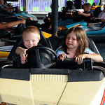 Austin Keiuf and Kyra Orr of Sheffield Lake have fun in the bumper cars at the open of the 53th annual Sheffield Lake Community Day July 9. STEVE MANHEIM/CHRONICLE