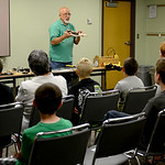 """Energy Specialist Barry Kaufman gives a presentation titled """"Wonders of Electricity LLC"""" regarding electrical safety on July 10 at the Lorain Public Library. KRISTIN BAUER 