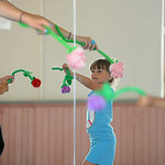 Roxanna Taft dances with a flower during the first session of Fairytale Ballet Camp at New Union Center for the Arts in Oberlin on July 14.  The camp is taught by professional dancers and te …