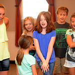 The Avon Recreation Youth Theater Camp and Magic Camp perform for families at Avon Lions Community Cabin in Avon on July 11. STEVE MANHEIM/CHRONICLE