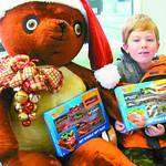 Kaiden Filipiak, 8, of Elyria donates toys.
