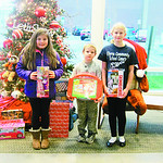 Grace, 7, and Jacob Knapp, 10, from Wellington, donated to the Not Forgotten Box along with their cousin, Reece Jones, 11. They have been donating for eight years.
