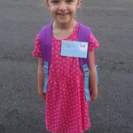Ava, 6, is ready for her first day of first grade at Avon East Elementary!