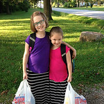 Cadence, third grade, and Mandolin, first grade, are ready for Crestwood Elementary School.