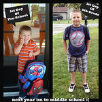 Tyler Fair is ready for his first day of fifth grade, and last day at North Ridgeville's Wilcox Elementary School, while his brother is headed to preschool.