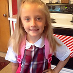 Evangeline, 6, is ready for her first day at St. Anthony's Lorain.