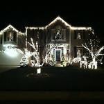 The Pence's house on Terrell Drive in North Ridgeville is decorated for the holidays.