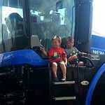 Braedyn and Gavin enjoyed the tractors the most.