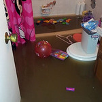 Mandee Haller said she has this much water throughout her entire house in Lorain.