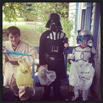 Christopher Puskas, 8, Caleb Puskas, 7, and Joshua Puskas, 5, are Star Wars kids.