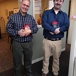 Chronicle-Telegram employees Dan Boros, who works in composing, dressed up as graphic artist Ed Betzel. The resemblance is uncanny, wouldn't you say?