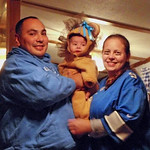 Evalina Maria Chavez, 4 months, is a lion from Detroit with her parents, Ernesto and Cara.