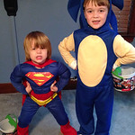 Brayden Alberti, 2, and Tyler Alberti, 6, are ready for trick-or-treat.