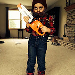 Dominic Morris, 4, is a Zombie Lumberjack.