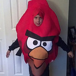 Bailey, 9, will be flying around North Ridgeville as an Angry Bird.