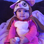 Kaitlyn Brooks, 6 months old, is a little night owl.