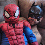 Superheroes Breycin, 4, and his best friend, Oli, 29, are ready to save the world.