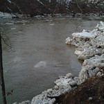 Shari Cummins said all that ice that wasn't budging an hour ago has thawed out and went rushing down the river.
