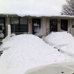 Dawn Meeks shared this photo of the snow piled up on the west side of Elyria off West Ridge and Brunswick roads.