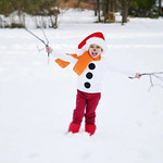 Nicholas, 4, is a live snowman. Photo courtesy of Veronica Simpson Newton