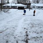 Becky Spencer Kovacs sent this photo after shoveling the driveway at her Stafford Drive home on Feb. 18.
